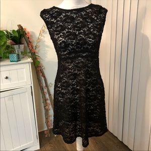 I.N.C all black lace dress